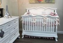 White in the Nursery / White fabrics used in the crib are the perfect basic solid that can be used to create a serene and peaceful nusery