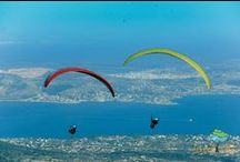 Paragliding in Greece via LandLife / Landlife's specialists with great experience in the field of paragliding undertake all the support required to admire the sights of Argolis from high up.  All you need is good mood and equipment. All the rest, such as transport (including convoy in points off and landing), accommodation upon request or anything else are included in the  services that can be offered by Landlife either individually or in the form of an organized multi-day trip to the mountains of the region.