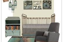 Industrial Style Nursery- steam punk styling for baby / Boy nurseries and bedrooms decorated with industrial style decor that appeals to boys