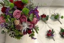some of my wedding work / These are wedding flowers created by www.mollyblooms.co.uk