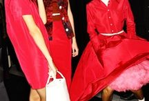fashion loves the red dress