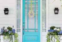 Front Door Paint Colors / Your front door is your first impression, make your house stand out  Learn more at http://c2paint.com!