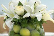 Wedding reception / party centerpieces / Different centerpiece ideas for a wedding reception or party.