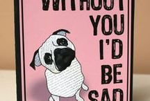 Suzanne Carillo Cards / Handmade cards, pug cards, blogger cards, greeting cards designed by artist Suzanne Carillo