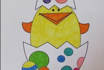 Easter coloring pages, worksheets, mini books / Fun for Easter!