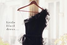 little black dress / when a little black dress is right, there is nothing else to wear in its place//Edith Piaf / by Erika Johnson
