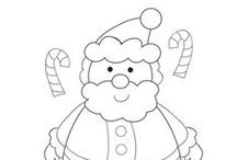 Christmas  / Christmas coloring pages, worksheets, and mini readers