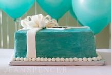 Tiffany's Blue Birthday Party / A 1st Birthday party inspired by Tiffany's- iconic blue and pink abound.