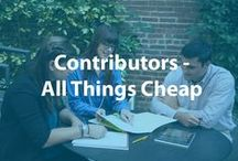 Contributors - All Things Cheap / Join us in collecting frugal tips and tricks. Share anything money-saving related, recommend good (but cheap) products, or let us know how you avoid fees! Keep pins to a reasonable volume and feel free to invite friends. Email info@cheapism.com to be added to this board.
