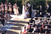 October 26, 2013 Wedding Ceremony & Reception  / 130 guest wedding ceremony and recpetion, burlap and lace theme.