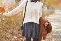 Autumn fashion / Where the leaves turn brown and the pumpkin spice latte comes to town