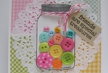 ♥ buttons, bows, ribbon, twine & knots ~ paper crafts & cards  / by Debbie Brown