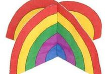 Rainbows, colours and colour mixing / Teaching and learning activities for topics on rainbows and colour.