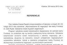 Referencje / Referencje od uczestników szkoleń