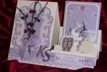 Cariad's Cards - Celebrations / Cards I've made for weddings, engagements, special birthdays etc