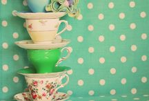 Vintage teacups and teashops