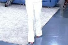 calça branca em figurinos / Looks com calça branca nos figurinos de novelas e de tv. / by blog Moda de Novela