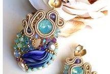 Jewelry inspirations / soutache, shibori, sutasz, kolczyki, bransoletki, naszyjniki, broszki, biżuteria, jewelery