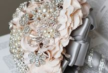 Rhinestone Bouquets / vintage rhinestone bouquets are so gorgeous and add just that touch of vintage to your wedding.
