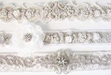 Wedding sash / Add a touch of glamour to you bridal look with a beautiful bridal sash with lots of rhinestone details.
