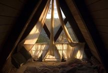 Living space: attic / The sky is the limit. This board is all about space, beams and windows