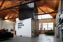 Industrial Warehouse / A collection of beautiful elements to love about industrial warehouse conversions. Wide open spaces with high ceilings, polished concrete floors and steel framing.