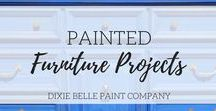 Painted Furniture Projects | Dixie Belle Paint / Chalk-type painted furniture Repurposed, upcycled, vintage, furniture. Want to join the group? Just message us or email info@dixiebellepaint.com