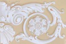 НАШИ РАБОТЫ Декоративные орнаменты / Hand painted stencils & friezes. Ручная роспись, трафареты и фризы.