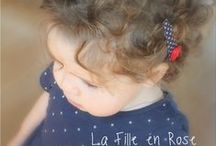 Hairclips for beautiful little girls / Gifts for little girls https://www.etsy.com/shop/shoplafilleenrose