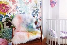 GIRLS INTERIORS / All things pretty, pale, sweet and feminine. Here you will find a playful take on inspiration and interest of little girls with the use of pattern and color: pinks, yellows, golds, oranges, purples and aquas found in interior design, furniture, home decor, fashion, gifts and objects.