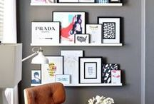 GALLERY WALLS + ART / This is a collection of inspirational art prints with repetitive pattern use and beautifully balanced color. You will also see stylish displays of art in homes.