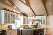 VAULTED TRUSS + BOX BEAM CEILINGS / We love high ceilings with intricate details, they just add that wow factor to even the smallest spaces. Here we share our love for vaulted truss and box beam ceilings.