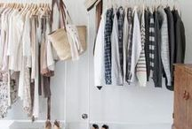 WARDROBE HEAVEN / Wardrobes don't have to be so functional, they can be styled just as you would wear the items in them, with your accessories and grouped in color palettes that suit your mood and personality.