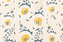 Patterns and paintings: fabrics and walls / Patterns and colour combinations that makes me smile