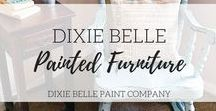 Dixie Belle Painted Furniture / Dixie Belle Chalk Mineral Paint, chalk-type painted furniture and painted furniture ideas #DixieBellePaint #BestPaintOnPlanetEarth