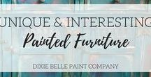 Unique and Interesting Painted Furniture / This board is for sharing unique painted furniture to help inspire each other. Please limit to 4 pins a day, nothing but painted furniture please. If you would like to join the group, make sure you are following Dixie Belle Paint on Pinterest and please notify us by emailing teri@dixiebellepaint.com with your Pinterest name.
