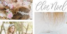 Cloe Noel Designs / Romantic and dreamy bridal Accessories that are designed with gorgeous beaded laces and vintage jewels each a one of a kind design.