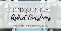 FAQ | Dixie Belle Paint / Do you have questions about painting with chalk mineral paint?  We're here to help.  If you don't see the answer to your question here you can always call us at 813-909-1962 or email us at info@dixiebellepaint.com.  We truly believe in that good ole' Southern hospitality type customer service!!!