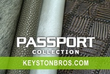 Passport Collection / Featuring a sophisticated mix of solids, textures and alluring prints in both transitional and contemporary faux leathers. Find it at Keystonbros.com!