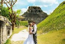 Belize Mayan Ruins Weddings / Mayan Ruin weddings.  Mayan ruins weddings combine a Belize wedding experience rich in history with some of the most breathtaking views in the world.