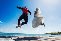 Belize Beach weddings / Belize Weddings. Sand, sea, blue skies, and palm trees overlooking the world's second largest barrier reef?  Belize has every ingredient for a tropical beach wedding.