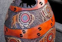 Gourds and Gourd Art / I have a friend who lives in Kalamazoo that does gourd art, and I think her work is just beautiful!  Love looking at this! / by Regina Badger