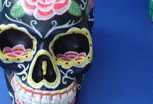 """Skulls / Skulls, heads, Day of the dead sugar skulls Mexican folk tradition  """"Hermosa muerto"""""""