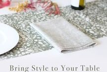 Entertaining | Dining / Set your dining table with beautiful looks. Entertain your guests with stylish products & decor. Throw a party in jaw-dropping settings that will certainly be memorable. / by Guildery
