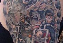 Biker Tattoos / Motorcycle Related Tattoos