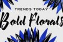 Trends Today: Bold Florals / Big, oversized floral patterns are one of the hottest trends in 2015. Showcased in a variety of techniques, styles and colors – this look has 70s revival written all over it and we can't get enough! / by Guildery