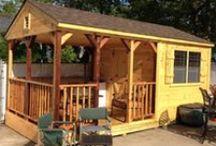 Our Custom Wood Sheds / Custom Wood Sheds built on-site