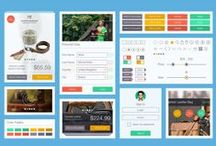 UI Kit / We are one team and we design web template of our work that pin here so we create our had portfolio.