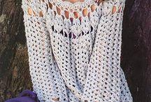 Crocheted outwear, sweater, cardigan (Horgolt felsők)
