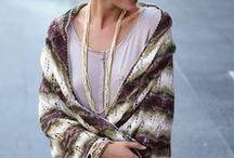 Knitted scarf, shawl/Kötött vállkendő, sál